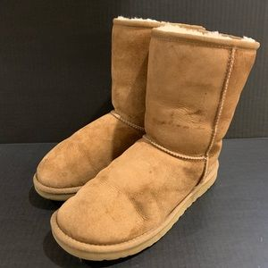 Ugg Classic Chestnut Boots Suede Wool Lined 7